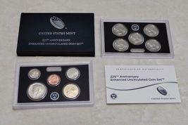 2 2017-S US Mint 225TH Anniversary Uncirculated ENHANCED 10 Coin Set In Mint Box image 4