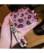 Pink Leopard Bling Crystal Stone Power Bank, Rechargeable Battery Pack C... - £23.58 GBP