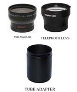 Wide + Tele Lens + Tube bundle for Panasonic DMC-FZ100 FZ100K DMC-FZ150 ... - $44.92