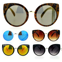 SA106 Womens Oversize Cat Eye Round Lens Plastic Diva Sunglasses - $9.95
