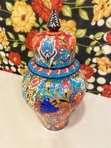 Large  moroccan Ceramic Vase, Decorative Ceramic Jar With Lid, Handmade ... - $100.00