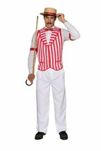 Forum Novelties 20s Barbiere Quartet Canotta Righe Std Costume Halloween... - $15.81