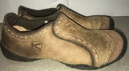 Keen Comfort Slip On Shoes Brown Leather Flat Womens Size 6.5 - $24.75