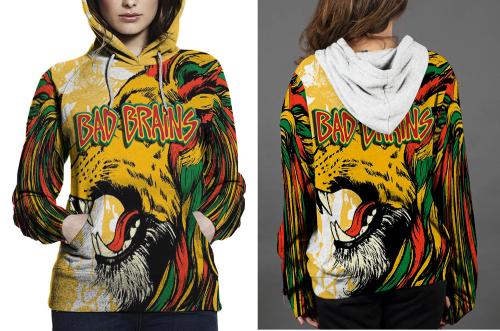 Bad brains hoodie fullprint women