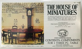 House of Miniatures 1:12 Hepplewhite Table Circa Early 1800s Kit #40006 Sealed - $19.34