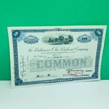 Railroad train company stock bond ephemera certificate 1951 baltimore oh... - $28.89