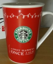 Starbucks It Only Happens Once a Year Christmas 05 Stocking Red Coffee M... - $27.93