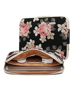 KAYOND Black Rose Patten canvas Water-resistant 14.1 Inch Laptop Sleeve - $13.67