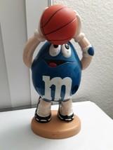 M & M Blue Basketball Player Candy Dispenser M & M's - $24.70