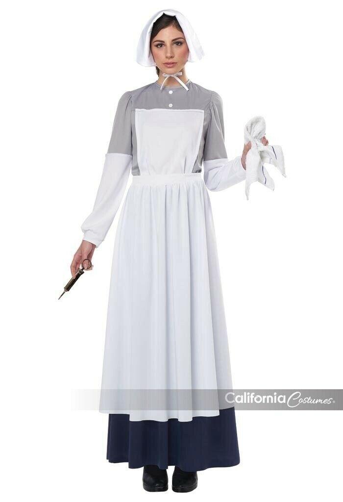 California Trajes Guerra Enfermera Histórico Adulto Mujer Disfraz Halloween
