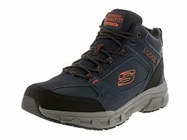 Skechers Relaxed Fit Oak Canyon Ironhide Mens High Top Sneakers Navy/Ora... - $46.99