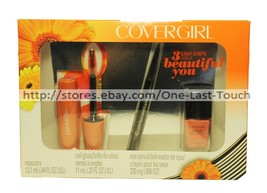 COVERGIRL* 3pc Set GET THE BOLD LOOK Mascara+Eye Liner+Nail Polish NEW! ... - $13.63