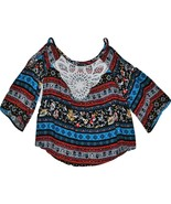 Girls' Cold Shoulder Blouse - Art Class  Jewel/Bittersweet XS - $8.49