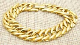 """Napier Patent Pending Chain Link Gold Tone Bracelet 7.5"""" Length Vintage - $13.86"""