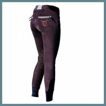 Horseware Ladies Nina Corded Knee Patch Breeches Chocolate size 24 image 2