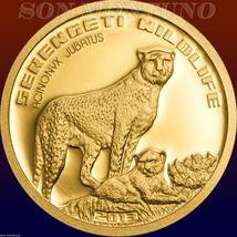 2013 CHEETAH Serengeti Wildlife TANZANIA 1/2 gram PURE GOLD COIN .9999 A... - $59.90