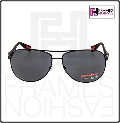 PRADA LINEA ROSSA NETEX PS51OS Black Aviator Sport Sunglasses SPS 51O Men