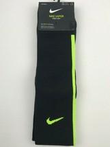 Nike Vapor knee High Soccer Socks Black/Volt Mens Size 8-12 Womens 10-13 - $14.84
