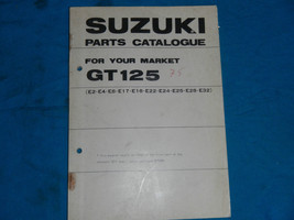 1975 75 Suzuki GT125 Gt 125 Parts Catalog Book Manual - $26.21