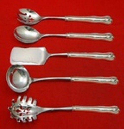 Newport Shell By Frank Smith Sterling Silver Hostess Serving Set HHWS 5pc Custom