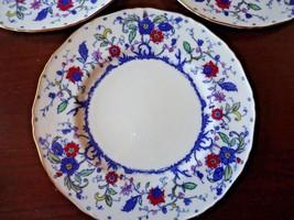 7 Royal Worcester 'Blue Chelsea' Dinner Plates  Fide Et Fiducia - $133.25