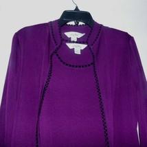 Ming Wang 2 Piece Purple Tank Jacket Blazer Size Small - $24.26