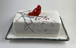 Holiday Cardinal Covered Butter Dish - $25.09 CAD