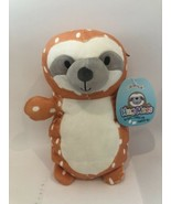 """SQUISHMALLOW 10"""" HUG MEE KANDACE 3D Standing Spotted Sloth Soft Orange New - $12.95"""