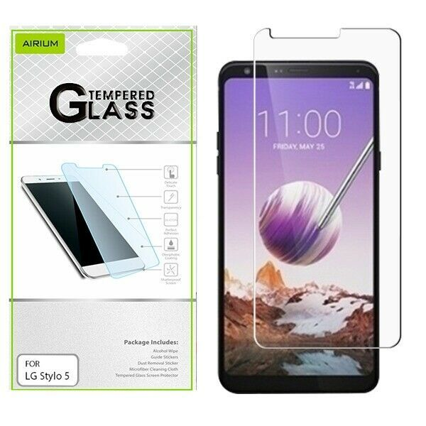 Primary image for For LG Stylo 5 Shockproof Tempered Glass Screen Protector Film Guard Clear 9H