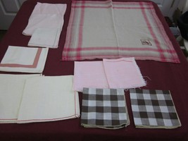 11 pc lot vintage Pink LUNCHEON & DINNER NAPKIN CUTTER LOT - one monogra... - $1.99