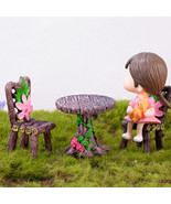 Mini chair Mini stool Mini table Wooden table model Gnome garden,miniatu... - £6.30 GBP