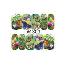 """HS Store -1 Sheets Nail Sticker Butterfly """"A1303"""" Nail Decorations UV Ge... - $2.51"""