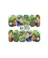 "HS Store -1 Sheets Nail Sticker Butterfly ""A1303"" Nail Decorations UV Ge... - $2.51"