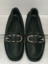 Cole Haan Black Leather Mocas Buckle Strap Loafer Women's 8 B Driving Shoes image 4
