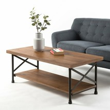 Metal-Wood Coffee Table Industrial Style Home Office Cocktail Living Roo... - $168.99
