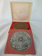Franklin Mint 1974 Annual Calendar Art Medal Bronze w/ Box & Papers - $16.78