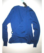 New Womens NWT Designer Brian Dales Top Sweater Wrap Sweater Italy Blue ... - $224.00