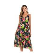 Maternity's Dress V Neck Floral Print Long Slip Dress - $26.99