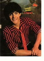 Menudo Charlie Rivera teen magazine pinup clipping Bop red tie 1980's te... - $1.50