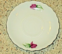2 Moss Rose Saucers Bone China Japan Porcelain Vintage  - $8.91