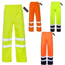 Hi Viz Vis Safety Waterproof Rain Cover Trouser Mens Work High Visibility Pant - $10.91 - $13.23
