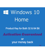 Windows 10 Home Product Key for 32 and 64 Bit with Download Links - $8.80