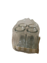 David Tutera Glass Bottles WithOut Cork Tops 4 Pieces Mini Bottles Clear - $57.82