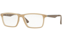 Authentic Ray Ban Eyeglasses RB7056 5646 Matte Beige Frames 55MM Rx-ABLE - $75.23