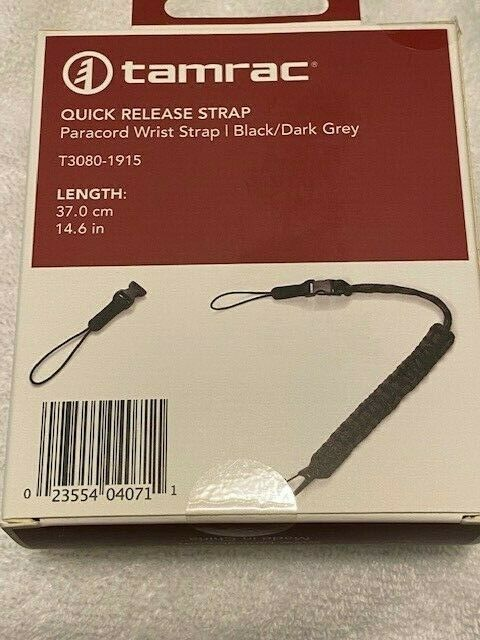 Tamrac Quick Release Paracord Wrist Strap for DSLR and Mirrorless Cameras- NEW