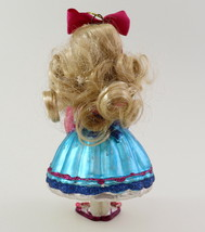 Hand Blown Glass Christmas Ornament of a little Girl  image 8