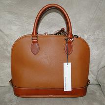 Dooney & Bourke Pebble Leather Zip Zip Satchel CARAMEL image 4