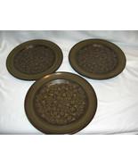 3 Vintage Salad Plates Franciscan China Pottery Brown Madeira California - $19.79