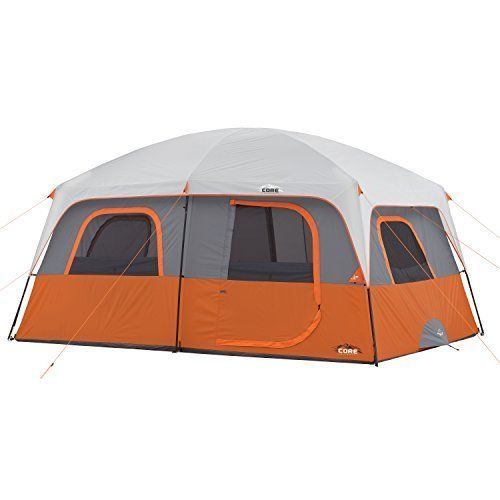 Primary image for CORE 10 Person Straight Wall Cabin Tent 14' x 10' Tents Canopies Camping Hiking