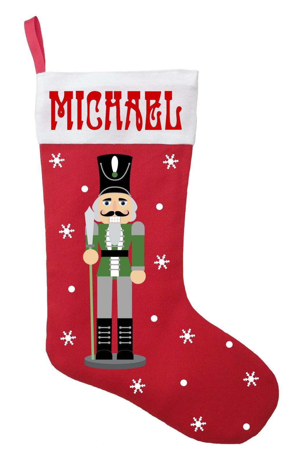 Nutcracker Christmas Stocking - Personalized and Hand Made Nutcracker Stocking i